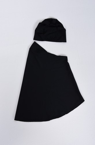 Black Swimsuit Hijab 1007-01