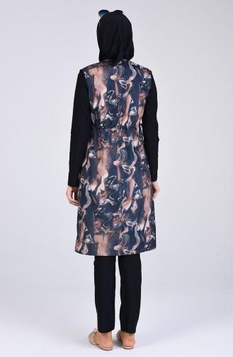 Schwarz Hijab Badeanzug 1008-01