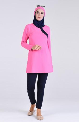 Pink Swimsuit Hijab 4444-02