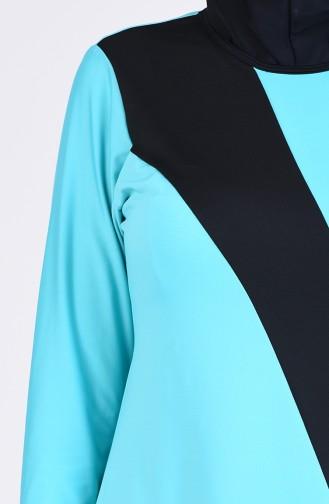 Maillot de Bain Hijab Vert 4444-03