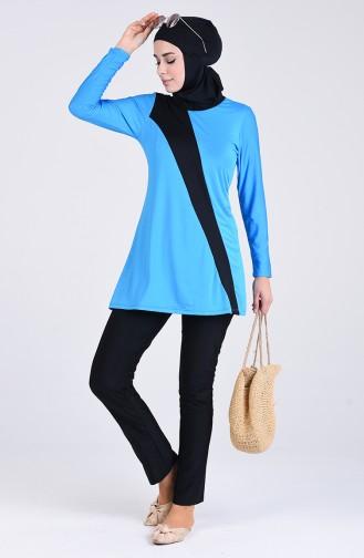 Maillot de Bain Hijab Blue roi 4444-04