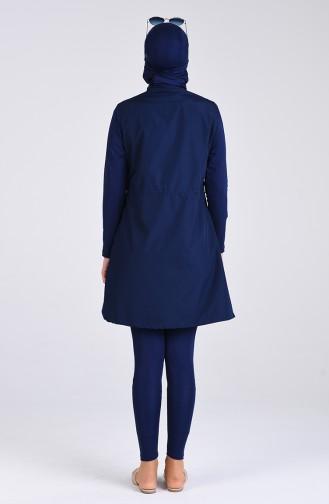 Dunkelblau Hijab Badeanzug 8070-03