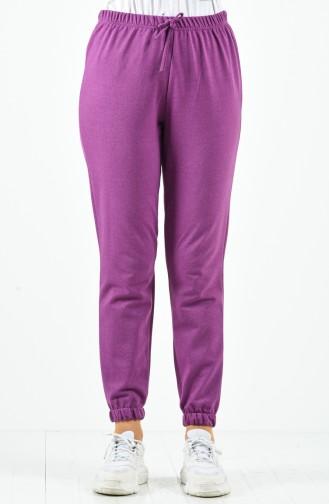 Pantalon Sport Taille Élastique 1558-08 Violet 1558-08