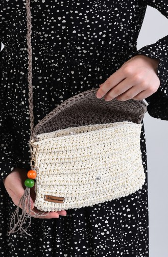 Cream Shoulder Bag 2073-01