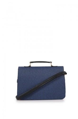 Navy Blue Shoulder Bag 40Z-41