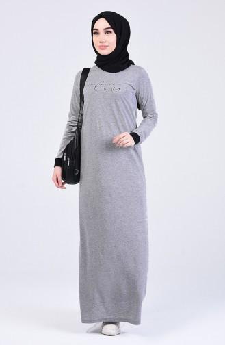 Robe Hijab Gris Foncé 0506-06
