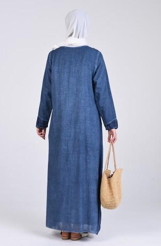 Robe Hijab Indigo 9595-01