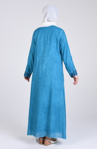 Robe Hijab Turquoise 9595-02