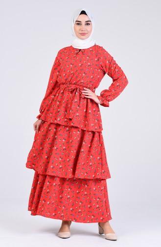 Robe Hijab Rouge 8057-02