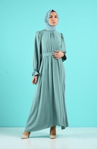 Unreife Mandelgrün Hijap Kleider 12045-04