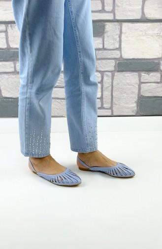 حذاء مسطح أزرق 2237-04