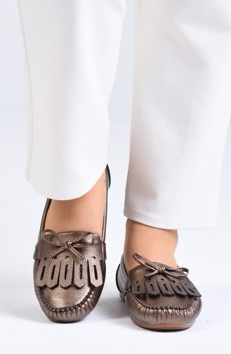 Copper Woman Flat Shoe 0126-02