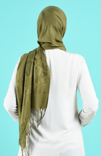 Châle Vert huile 70163-08