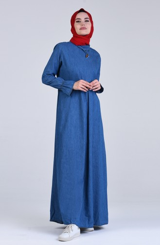 Kot Elbise 5005-01 Lacivert
