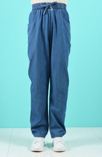 Düz Paça Kot Pantolon 2005-02 Kot Mavi