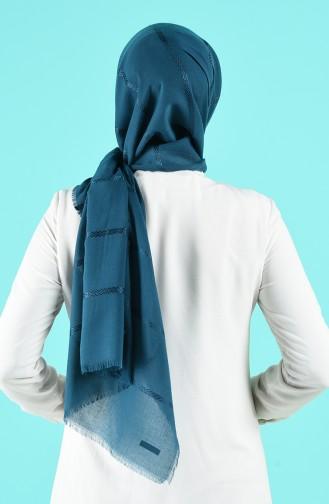 شال أزرق زيتي 8000-17