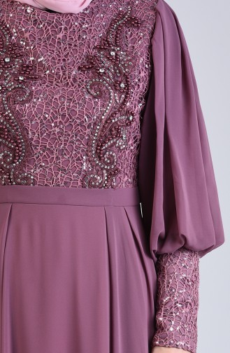 Beige-Rose Hijab-Abendkleider 52771-03