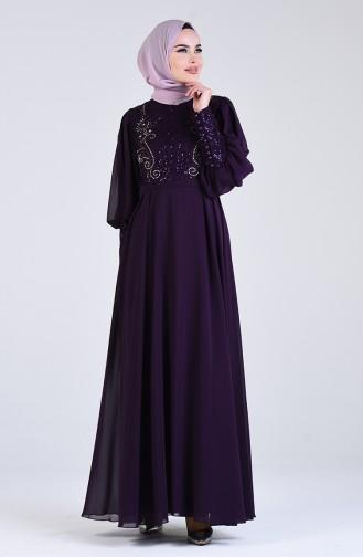 Habillé Hijab Pourpre 52771-04