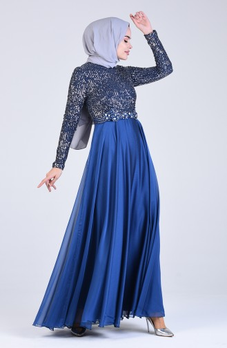 Habillé Hijab Indigo 52774-01