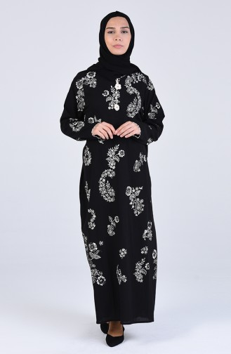 Robe Hijab Noir 2424-01