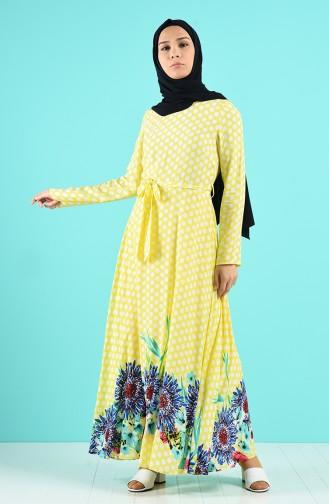 Robe Hijab Jaune 20Y3034301C-02