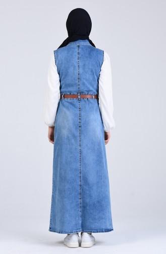 Eisblau Hijap Kleider 0929-02