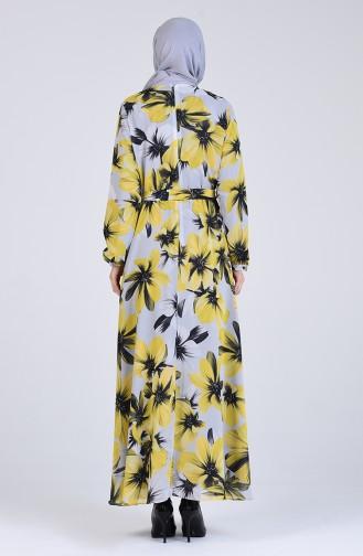 Robe Hijab Jaune 3089-01