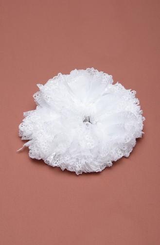 Weiß Haarspangen 7004-03