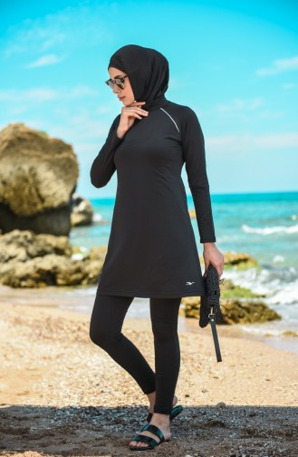 Black Swimsuit Hijab 20115-04