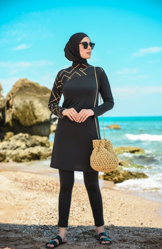 Black Swimsuit Hijab 20124-02