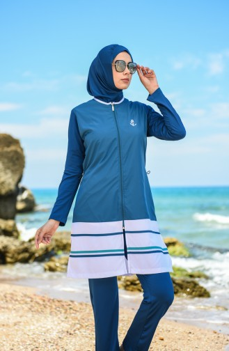 Hijab Swimsuit 1277-03 Petrol 1277-03