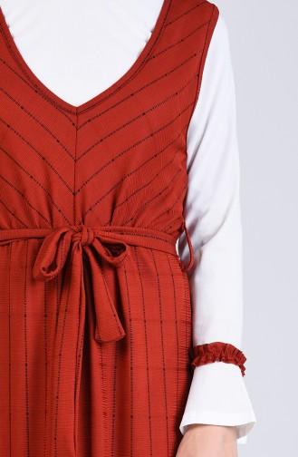 Robe Hijab Couleur brique 6574-01