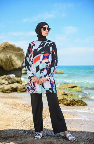 Black Swimsuit Hijab 201131-03