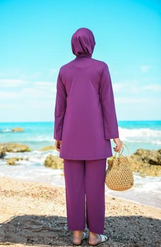 Maillot de Bain Hijab Pourpre 20133-04