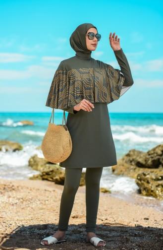 Khaki Swimsuit Hijab 20139-02