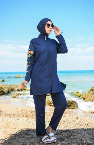 Maillot de Bain Hijab Bleu Marine 20170-01