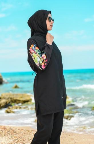 Black Swimsuit Hijab 20170-02
