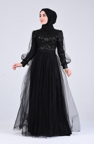 Habillé Hijab Noir 4824-01