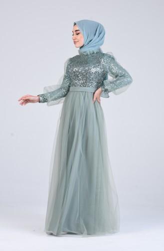 Habillé Hijab Vert 4824-03