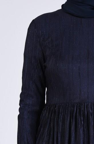 Habillé Hijab Bleu Marine 60155-02