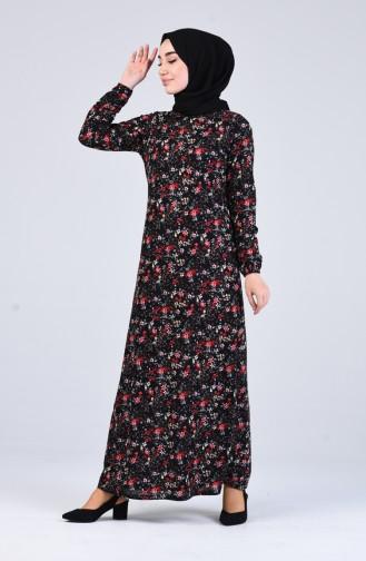 Robe Hijab Noir 8874-03