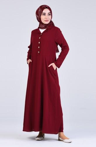 Robe Hijab Bordeaux 12205-04