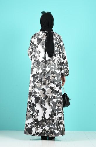 Black İslamitische Jurk 3182-01
