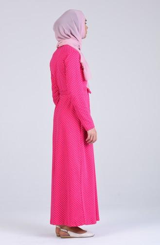 Fuchsia İslamitische Jurk 4462-01