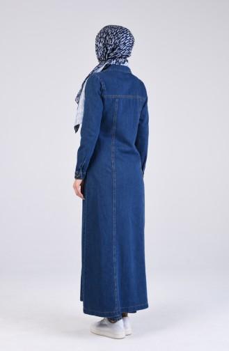 معطف فوقي أزرق كحلي 9290-01