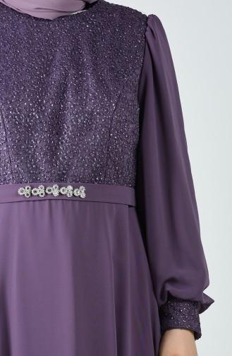 Lila Hijab-Abendkleider 1321-01