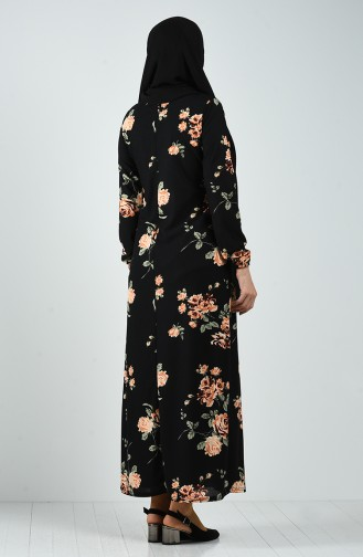 Robe Hijab Noir 8873-01