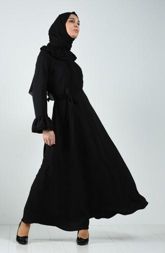 Schwarz Hijap Kleider 3091-04