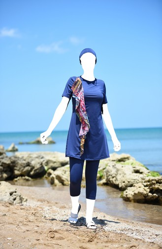 Navy Blue Swimsuit Hijab 8156A-01