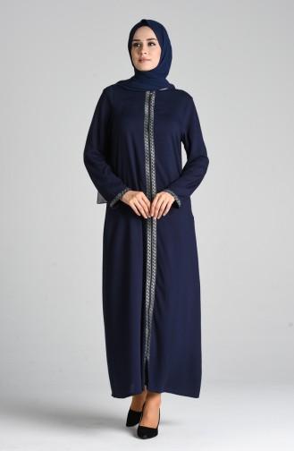 Navy Blue Abaya 0617-02